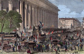 Aspect of the Place de Bourse in Paris August 6th 1870