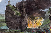 Burning in the Lake of Buttes-Chaumont - Paris (1870)