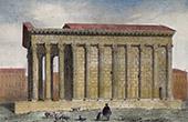 View of N�mes - Maison Carr�e - Roman Temple - Gard (France)