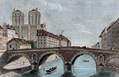 History and Monuments of Paris - Old Pont Saint-Michel - Bridge