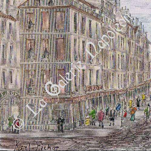 Gravures anciennes histoire et monuments de paris faubourg saint antoine faubourg la - Meubles faubourg saint antoine ...