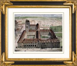 Geschichte und Denkm�ler von Paris - Coll�ge Henri IV - Kollegium Heinrich IV - Tour Clovis - Abtei Sainte-Genevi�ve