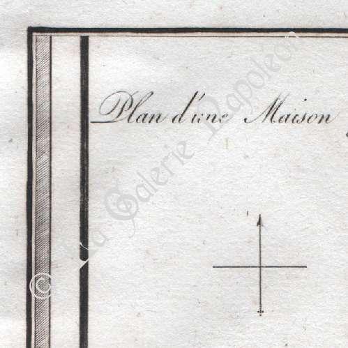 Stampe antiche stampa di casa greca grecia antica for Piani di casa del revival greco