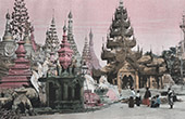 Rangun Groß Pagode - Shwedagon - Stupa - Heiligtum (Myanmar)