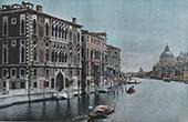 Veduta di Venezia - Gondola - Canal Grande - Palazzo Cavalli-Franchetti (Italia)