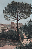 View of Rome - Colosseum - Roman Coliseum - Flavian Amphitheater (Italy)