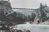 Canadian-Pacific-Railway - Bridge - Salmon River (British Columbia - B.C.)
