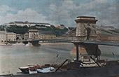 Ansicht von Budapest - Donau - H�ngebr�cke (Ungarn)
