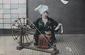 Japan - Spinning of cotton - Spinning wheel