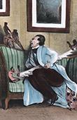 Caricature de la M�decine - Docteur - Malade