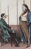 Caricature de la Médecine - Docteur - Malade