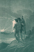 Kunst Akt - Paradies - Himmel - Adam und Eva - Adam und der Erzengel Michael - Vision