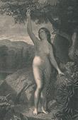 Kunst Akt - Paradies - Himmel - Adam und Eva - Eva Ernte der Apfel