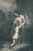 Kunst Akt - Paradies - Himmel - Adam und Eva - Die Verzeihung von Adam