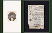 Historisches Dokument - Erster Empire - 1809 - Nizza - Montenotte - Italien - Lizenz Kaufmann