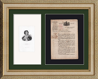 Historisches Dokument - Franz�sischen Revolution - 1799 - Brief des Ministers f�r Krieg an den Direktoren der Befestigungen