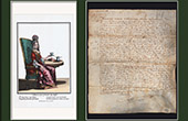 Historical Document on Parchment - Reign of Louis XIII of France - 1637 - France XVIIth Century