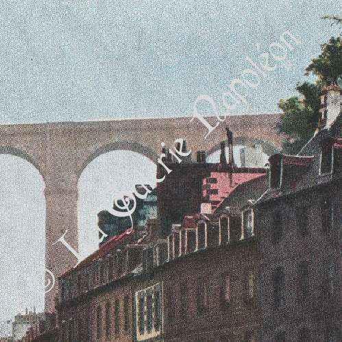 gravures anciennes finist re bretagne le port de morlaix france photochromie 1890. Black Bedroom Furniture Sets. Home Design Ideas