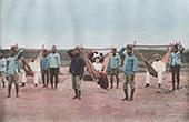 Dahomey - Benin - V�stafrika - Transportmedel - H�ngmatta