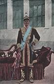 Dahomey - Benin - V�stafrika - Portr�tt av Kung Toffa - Dr�kt - Kostym