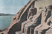Ancient Egypt - Pharaoh - Statues of Ramesses III at Ibsamboul - Nubia (Egypt)