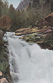 View of Cauterets - Midi-Pyr�n�es (Hautes-Pyr�n�es - France) - Mauhourat Waterfall