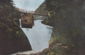 View of Cauterets - Midi-Pyr�n�es (Hautes-Pyr�n�es - France) - Cerisey Waterfall