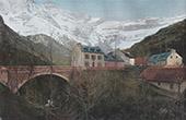 View of Gavarnie - Midi-Pyrénées (Hautes-Pyrénées - France)