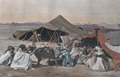 North Africa - Camping of Arab people