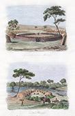 Council of War of the Matelhapi - Batlapi - Khoikhoi - Kraal Coranna - Cape Town (South Africa)