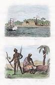 Ansicht von Saint-Louis (Senegal) - Neger - Mandinka - Feloup