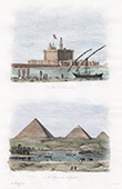 Lighthouse of Alexandria - Great Pyramid of Giza - Pyramid of Cheops (Egypt)