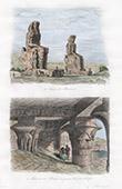 Colossi of Memnon at Thebes - Temple of Edfu (Egypt)