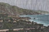 View of Menton - Italian Border (France)