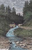 Alagnon River - Puy Chavaroche - Cantal - Auvergne (France)