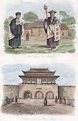 Stich von China - Buddhistisch Priester - Kostüm - Tracht - Palast von Peking