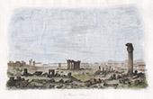 Ruine in Palmyra - Kolonnaden und Triumphbogen - R�mische Period  - Naher Osten