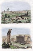 Ansicht von Damaskus (Syrien) - Baalbeck Ruine - R�mische Period (Libanon)