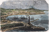 Campaign in Italy - 1859 - Franco-austrian War - General View of Genoa - Port (Italy)