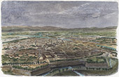 Campaign in Italy - 1859 - Franco-austrian War - General View of Pavia (Italy)