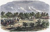 Campaign in Italy - 1859 - Franco-austrian War - Napoleon III meets the Emperor Francis I of Austria near Vérone