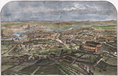 Campaign in Italy - 1859 - Franco-austrian War - General View of Rome (Italy)