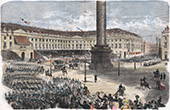 Campaign in Italy - 1859 - Napoleon III - Parade of the Army of Italy at Place Vend�me (1859)