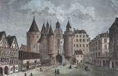 Monuments of Paris - Le Ch�telet, Side of the Street Saint-Denis in 1780