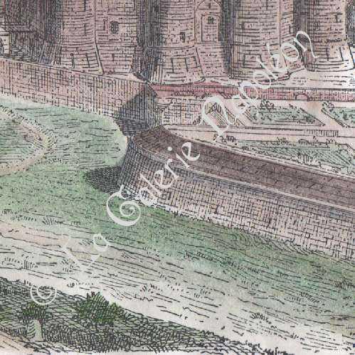 gravures anciennes fortifications de la bastille paris 1552 gravure sur bois 1880. Black Bedroom Furniture Sets. Home Design Ideas