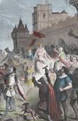 Blanche of Castile's entry into Paris - Regency - Louis IX