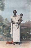 Afrikansk kvinna och hennes barn - Svarta m�nniskor - Dr�kter av kvinnor (Afrika)