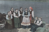 Norwegian Typical Costumes - Women - Sognefjord (Norway)