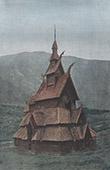 Kirche - Stabkirche Borgund - Fjord - Sogn og Fjordane (Norwegen)