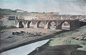 Ansicht von Tiflis - Tbilissi - Brücke - Arsenal - Gouvrneur Palast (Georgien)